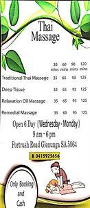 Thai Massage Glenunga Burnside Area Preview