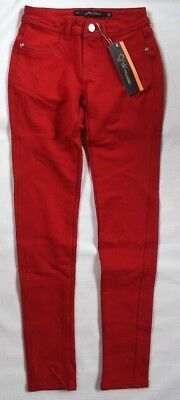 JW MAXX Jeans Red Stretch Jeggings Skinny Leg Casual Low Rise Pants Womens S NEW