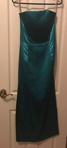 Formal dress aqua strapless split sides Richmond Hawkesbury Area Preview