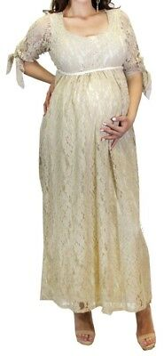 Elegant Maternity Wedding Baby shower Dress Long Sleeve Dress New Long Maxi