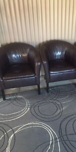 x2 PVC Tub chairs Brown Colour Angle Park Port Adelaide Area Preview
