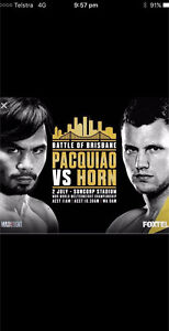 Manny Pacquiao vs Jeff Horn tickets x 2 Burpengary Caboolture Area Preview