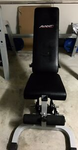 Avanti Adjustable Utility Bench + Olympic Barbell + Weight Plates Doreen Nillumbik Area Preview
