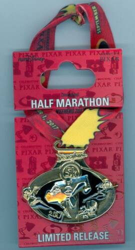 Disney Marathon Pixar Incredibles Family Dash Violet Logo Gold Medal Ribbon Pin
