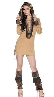 ESKIMO KISS Costume Ladies Indian Dress Adult Large XL 10 12 14 Native American