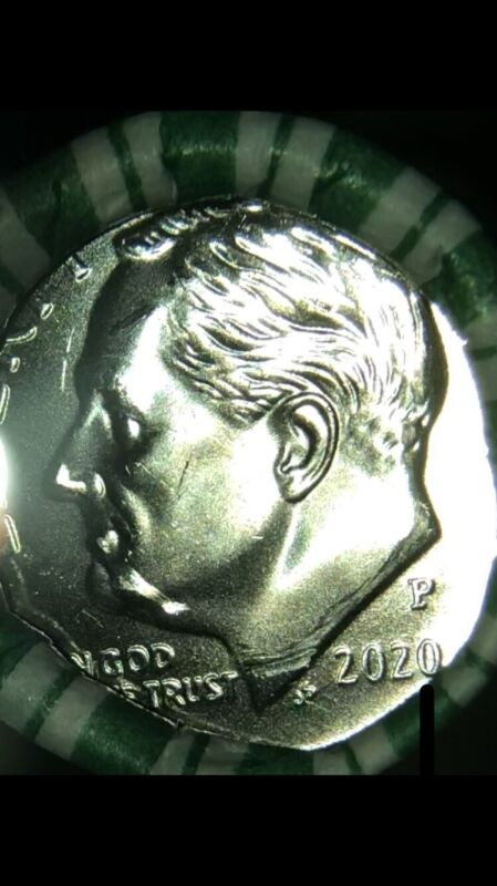 2020 P Roosevelt Dime Roll..(1) Roll/ $5 FACE VALUE..Uncirculated Bank Rolls
