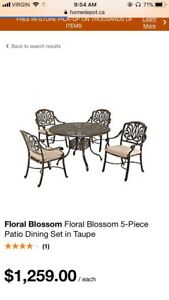 New 5 Piece Patio Dinning Set