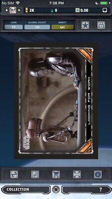 THE MANDALORIAN Topps Star Wars Card Trader Digital BLACK S1 Wave 1 Looking Work