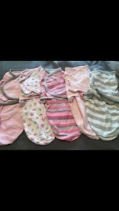 6 Baby girl Swaddles