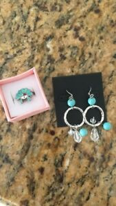 Matching Ring and Earring Set