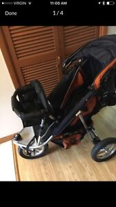 Velco Baby Jogging stroller with toddler seat!