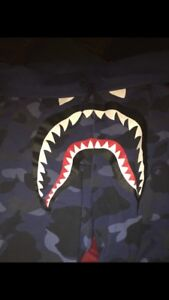 Bape Camo Shark Face Shorts