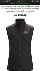 Arc'terix women's black vest