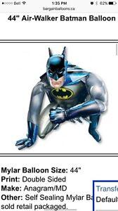Batman balloon- used, deflated