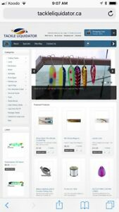 Visit tackleliquidator.ca for your fishing tackle needs