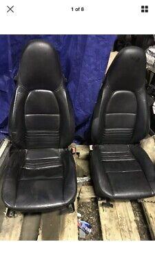 Porsche Boxster 986 Black Leather Seats