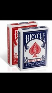 bicycle cards decks new red  blue/ cartes a jouer rouge  bleu