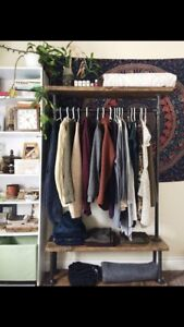 Industrial Style Clothing Rack