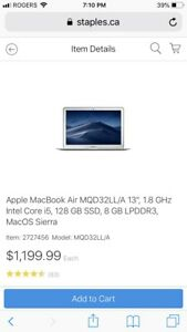 Mac book air or pro $900 brand new in box with warranty