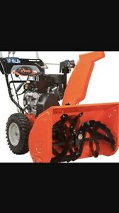 Wanted to buy ariens snowblower that is within 5 years old