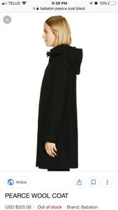 Aritzia babaton Pearce wool coat color black size small