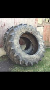 Two tractor tires.