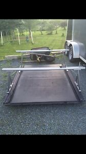 Truck rack with built in cover