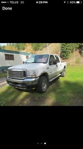 Ford F-350 diesel 4 by4 crew cab for sale or trade