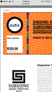 ***SUBSONIC MUSIC FESTIVAL TICKET FOR SALE***