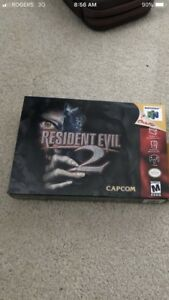 Resident evil 2 with box like new shape