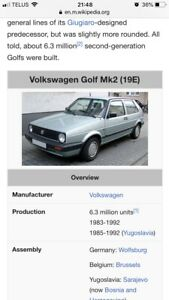 Looking for mk2 or mk3 vw golf