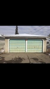 Whyte Ave double detached garage close to whyte Ave