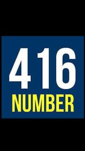 416 AREA CODE PHONE NUMBERS FOR YOUR CHOICE