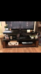 Modern Glass and Wood TV Stand $100