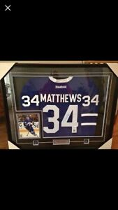 Auston Matthews Framed Signed Jersey from Rookie Year