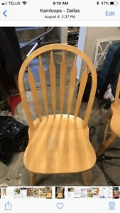 Maple Chairs $20 Each