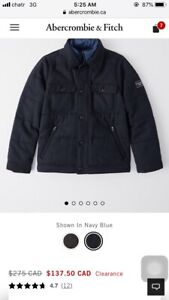 85% off brand new sealed $310 Abercrombie and Fitch wool blend