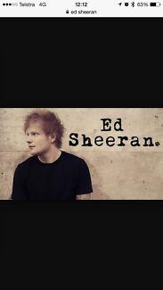 Ed Sheeran Melbourne concert 6th December AAMI park Berwick Casey Area Preview