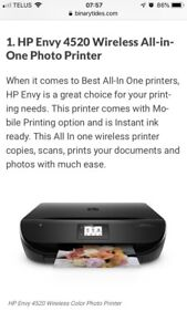 HP Envy 4520 all in one wireless printer scanner fax