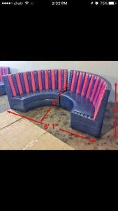 Curved booth seating