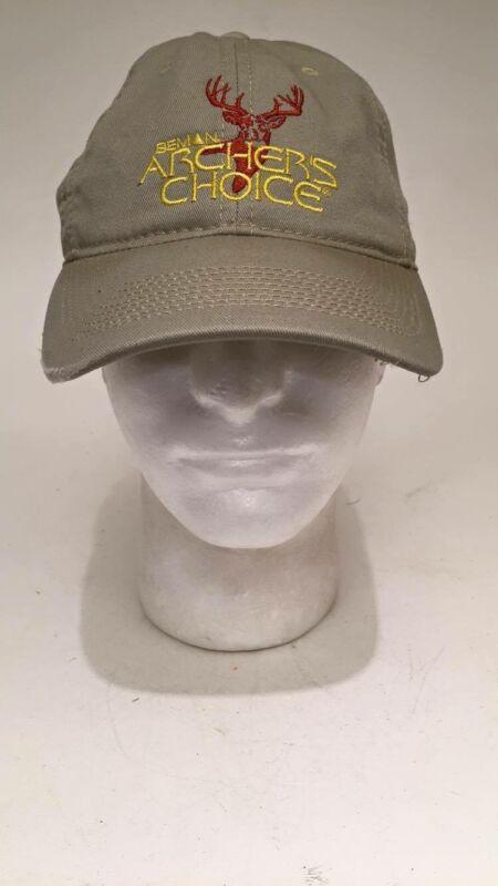 Beman Archers Choice Shooters Hat Khaki Tan Deer Head Fast shipping.