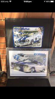 Ford Cobra and Allan Moffat cobra picture frame brand New $30 each