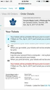 Toronto Maple Leafs Tickets For Sale!