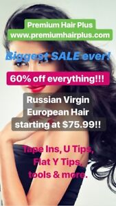 HAIR EXTENSIONS SUPPLY SALE!!! UP TO 60% OFF!!