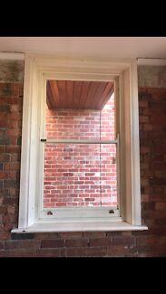 Double hung timber sash windows