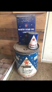 North Star oil tins
