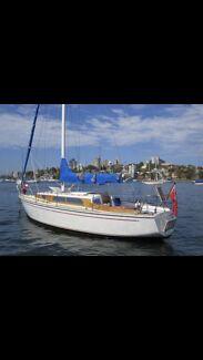 Halverson 33 ft timber yacht historic