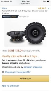 "New in box 6.5"" Alpine speakers"