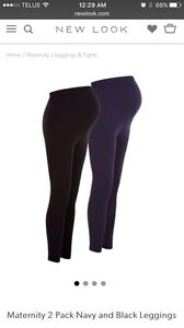 Pair of  maternity leggings navy & black
