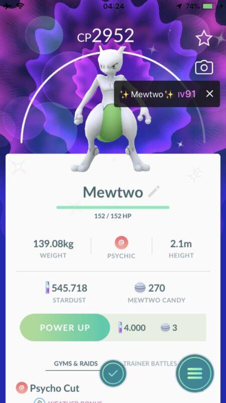 Shiny Mewtwo - Boosted Pokemon Go Account mini